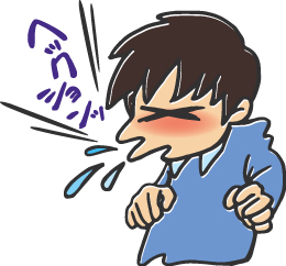 くしゃみをする男性のイラスト