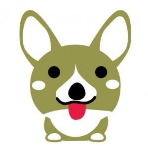 舌を出している犬のイラスト