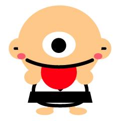 舌を出す一つ目小僧のイラスト