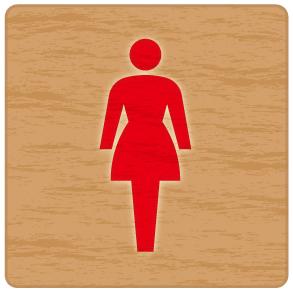 女子トイレのマーク