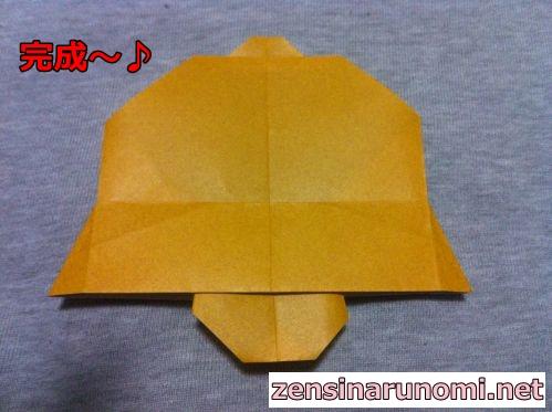 クリスマスのベルの折り紙20