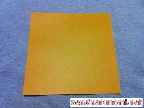 クリスマスのベルの折り紙01