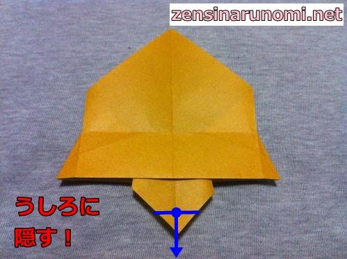 クリスマスのベルの折り紙17