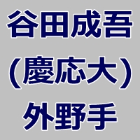 2015ドラフト候補・谷田成吾(慶応大学)