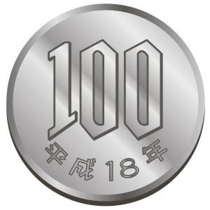 100円玉のイラスト