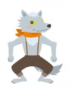狼(オオカミ)のイラスト