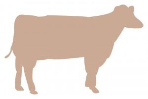 牛のシルエットのイラスト