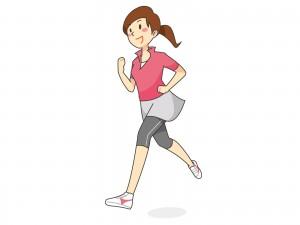 ランニングをする女性のイラスト