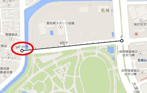 ランニングコースの距離をグーグルマップを使って測る方法3