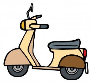 原付バイクのイラスト