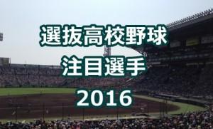 選抜高校野球 注目選手 2016